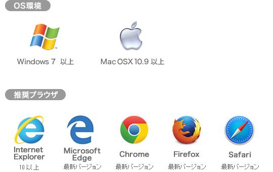 OS環境 推奨ブラウザ